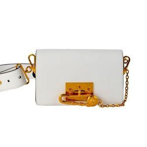 Safety Pin Leather Crossbody Belt Bag